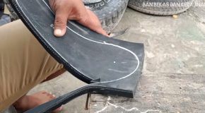 Making Sandals Out Of Old Motorcycle Tires!