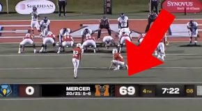 College Kicker Intentionally Misses FG To Keep Score 69-0!