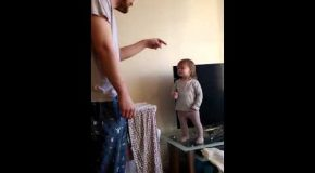 Father And Daughter Go Off On Each Other Adorably!