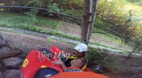 Kayak Accidentally Loses Control In A Drainage Ditch And Crashes!