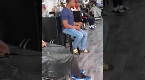 Man At Barber Shop Sings A Change Is Gonna Come By Sam Cooke Beautifully!