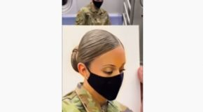 Man Paints Soldier On Subway Just Returning From Duty!