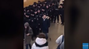 Russian Prankster Drops A Gun In Front Of The Police!