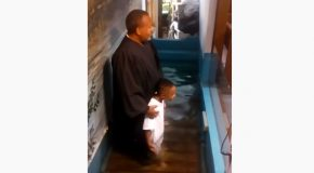 Kid Gets Very Excited About Getting Baptized, Got Baptised Himself!