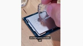 Looking At What Happens When You Put Ice On A CPU!